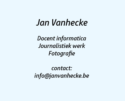 Jan Vanhecke: docent informatica - webdesign - support